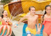 Parque aquático pode usar short?